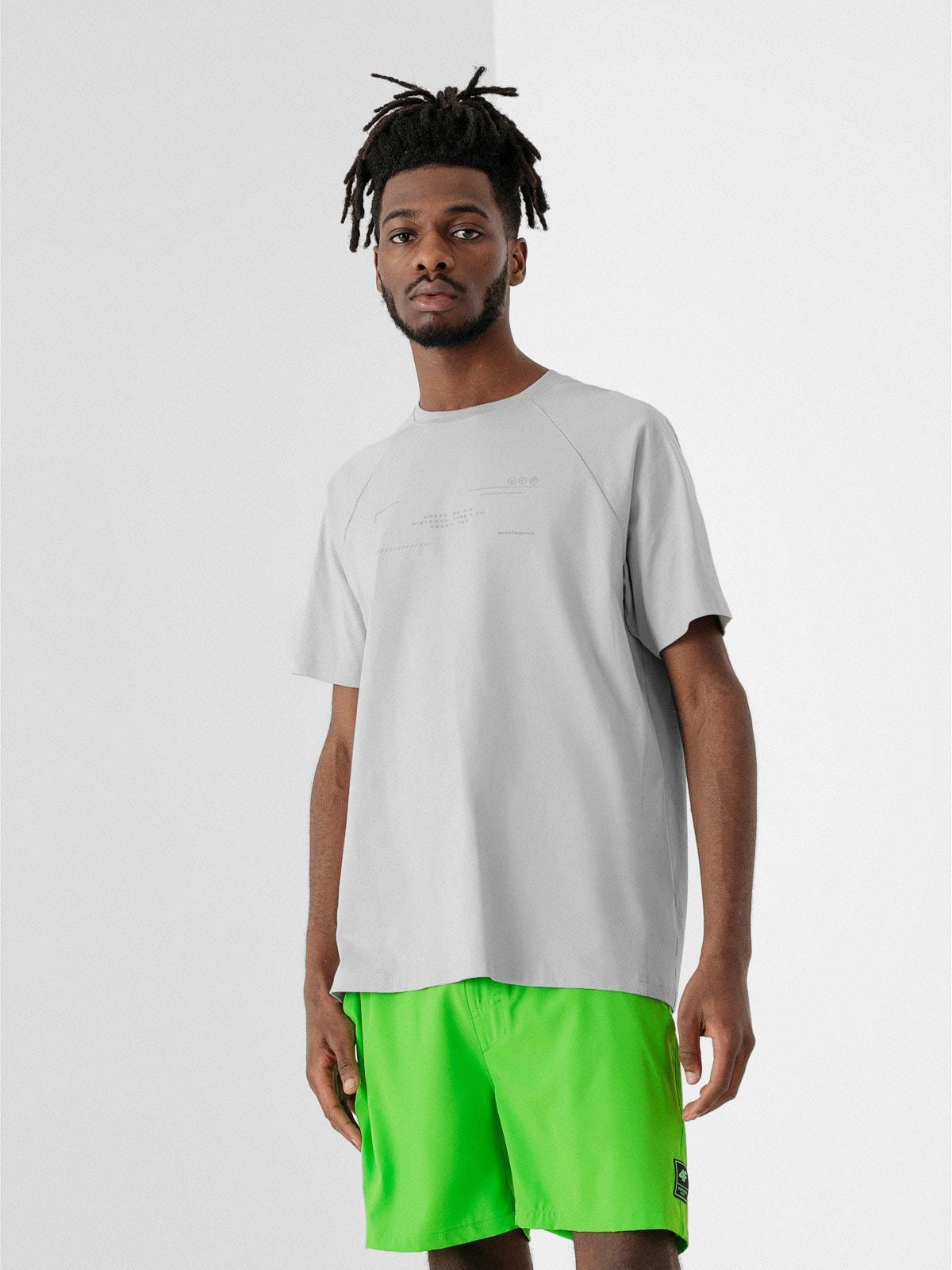 Levně Pánské tričko - šedý