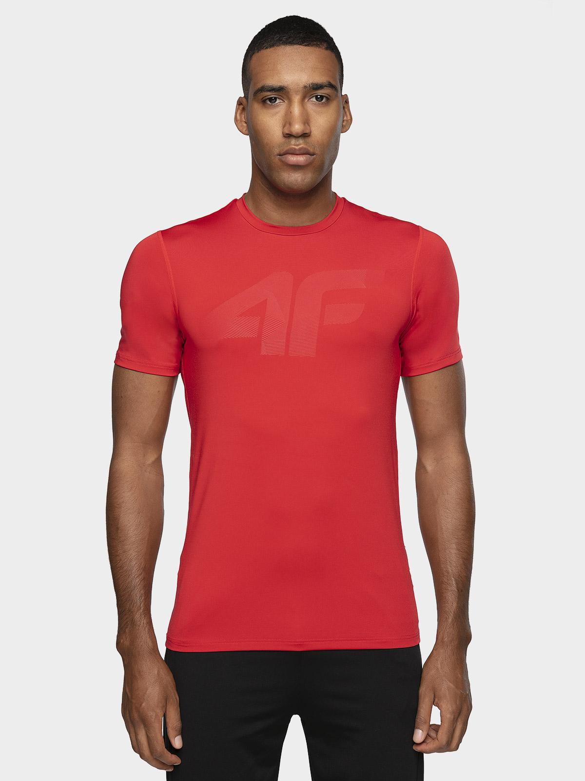 Levně Pánské tréninkové tričko TSMF004 – červené - červený