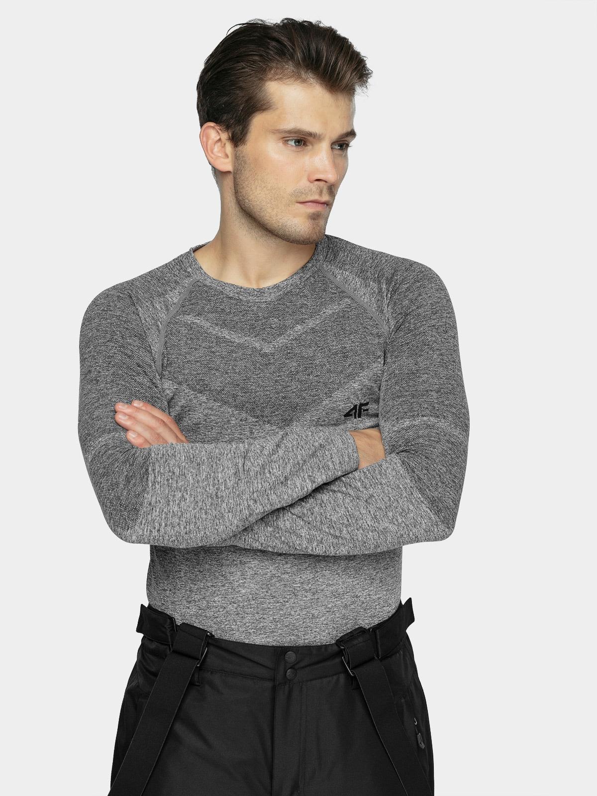 Levně Pánské bezešvé prádlo (horní část) - šedý