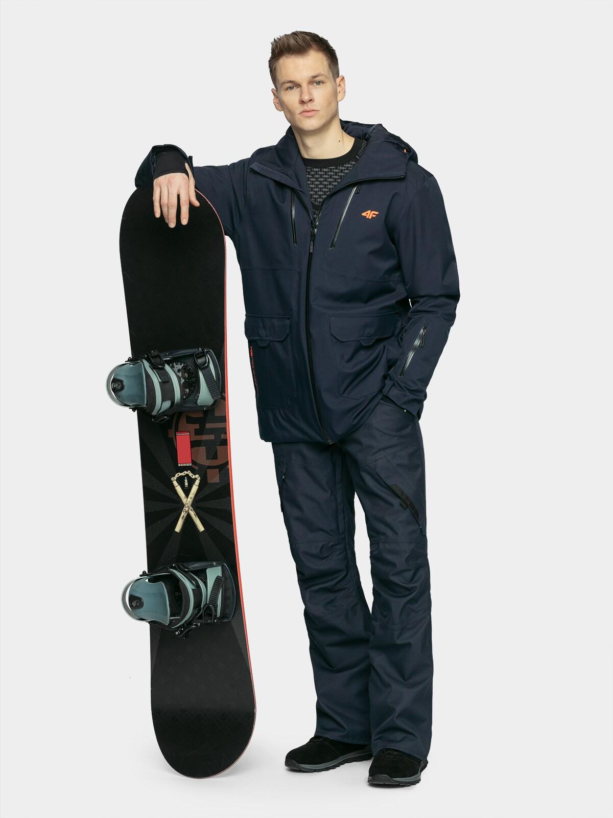 Levně Pánská snowboardová bunda - tmavě modrý