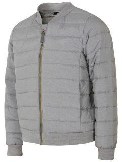 Péřová bunda pro mladší holky JKUDP105 - světle šedá