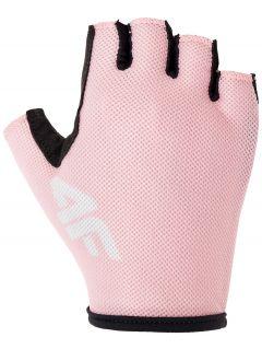 Cyklistické rukavičky unisex RRU300 - růžová