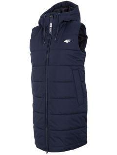 Dámská péřová vesta KUDP206 – tmavě modrá