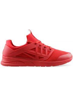 Pánské boty lifestyle OBML202 - tmavě červené
