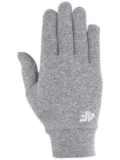 Běžecké rukavičky unisex RRU303 - středně šedý melír