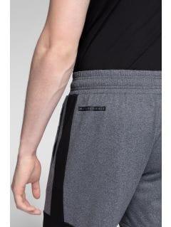 Pánské tréninkové kraťasy SKMF275 - středně šedý melír