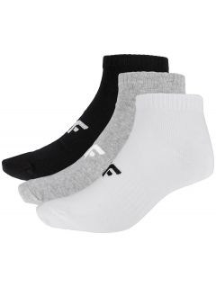 Dámské ponožky SOM302 - hluboce černé+šedý melír+bílé