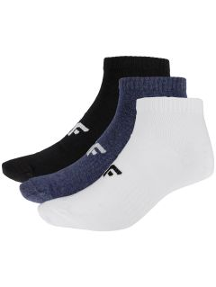 Pánské ponožky SOM302 - hluboce černé+tmavě modrý melír+bílé
