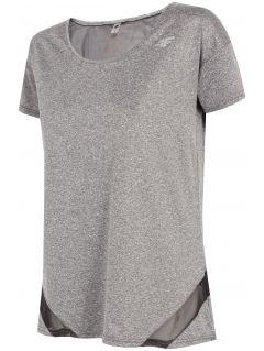 Dámské tréninkové tričko TSDF304 - chladný světle šedý melír