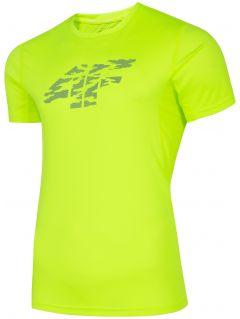 Pánské běžecké tričko TSMF204 - šťavnaté neonově zelené