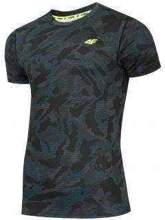 Pánské běžecké tričko TSMF206 - mořský zelený allover