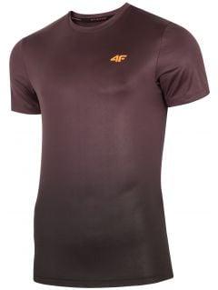Pánské tréninkové tričko TSMF272 - burgundský allover
