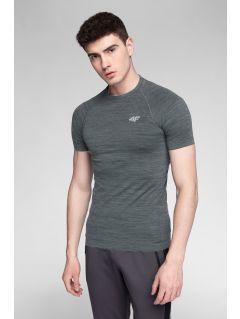Pánské tréninkové tričko TSMF275 - černý melír