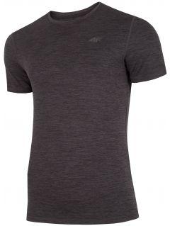 Pánské tréninkové tričko TSMF301 - hluboce černý melír