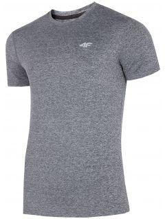 Pánské tréninkové tričko TSMF301 - šedý melír