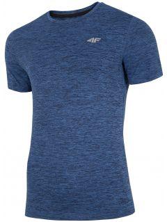 Pánské tréninkové tričko TSMF301 - tmavě modrý melír