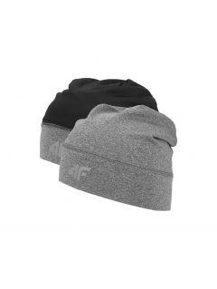 Sportovní čepice unisex CAU201 - středně šedý melír
