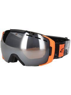 Pánské lyžařské brýle GGM254 - neonově oranžové
