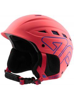 Dámská lyžařská helma KSD250 - neonově korálová