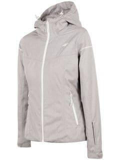 Dámská lyžařská bunda KUDN300 - chladný světle šedý melír
