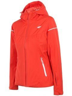 Dámská lyžařská bunda KUDN300 – červená