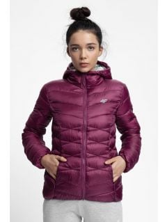 Dámská péřová bunda KUDP211 - tmavě fialová