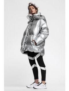 Dámská péřová bunda KUDP220 – stříbrná