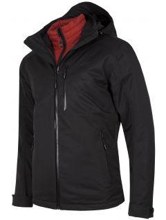 Pánská trekkingová bunda 3v1 KUMTR200R - hluboká černá