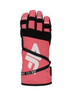 Dámské lyžařské rukavice RED253 - neonově lososové
