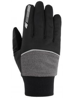 Softshellové rukavičky unisex REU104 - středně šedé