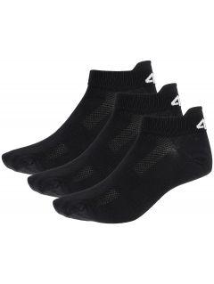 Dámské ponožky SOD253 - hluboce černé+hluboce černé+hluboce čer