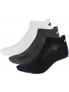 Pánské ponožky SOM253 - bílý + středně šedý melír+hluboce černé