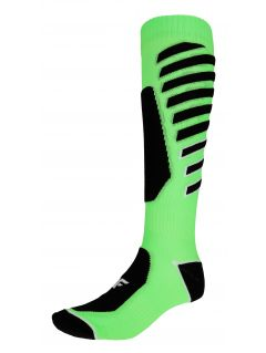 Pánské lyžařské ponožky SOMN348 – limetkové