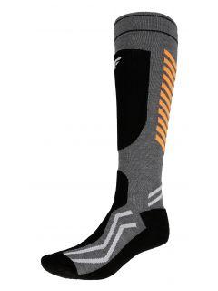 Pánské lyžařské ponožky SOMN350 – šedé