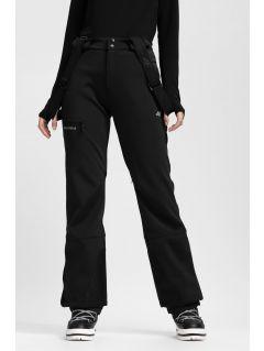 Dámské lyžařské kalhoty SPDN203 - hluboce černé