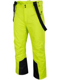 Pánské lyžařské kalhoty SPMN251 - šťavnaté zelené
