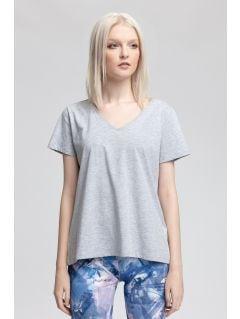 Dámské tričko TSD415 - teplý světle šedý melír