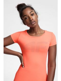 Dámské tréninkové tričko TSDF107 - neonově korálové