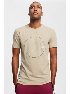 Pánské tričko TSM269 – béžové