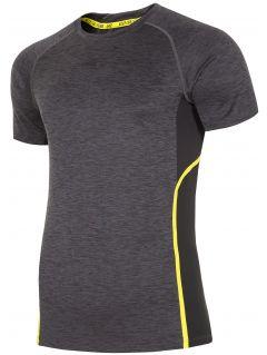 Pánské tréninkové tričko TSMF153 - tmavě šedý melír