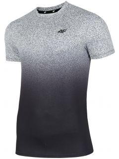 Pánské tréninkové tričko TSMF208 - středně šedý allover