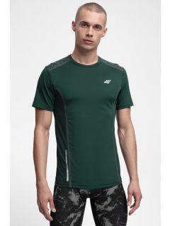 Pánské běžeské tričko TSMF216 - tmavě zelené