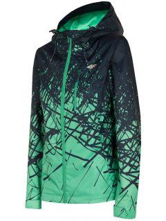 Dámská městská bunda KUDT002 - světle zelený allover