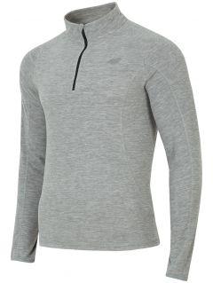 Pánské fleecové prádlo BIMP001 - šedý melír