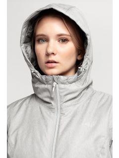 Dámská lyžařská bunda KUDN002 - chladný světle šedý melír