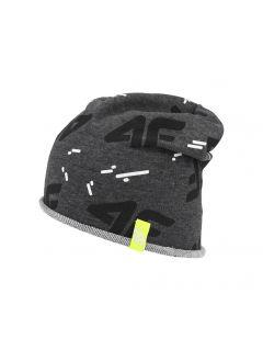 Chlapecká čepice (53 cm) JCAM212 - tmavě šedý melír