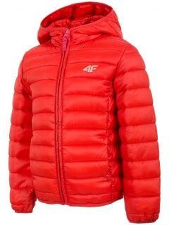 Dívčí péřová bunda (98-116)  JKUDP100 – červená