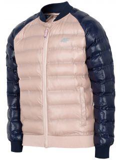 Dívčí péřová bunda (122-164) JKUDP202 - světle růžová