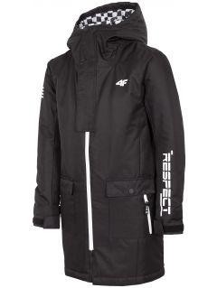 Chlapecká městská bunda (122-164) JKUM204 – černá