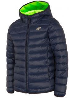 Chlapecká péřová bunda (122-164) JKUMP200 – tmavě modrá